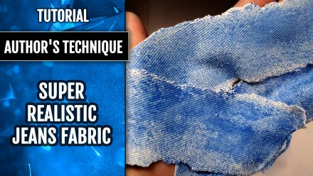 ($15+) Video tutorial: Super Realistic Faux Light-Blue Jeans Fabric+Bonuses!