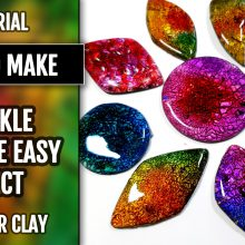($15+) How to make polymer clay crackle – a new technique.