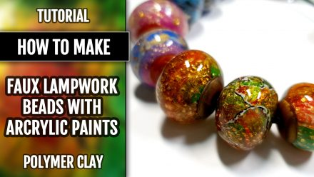 ($5+) Video Tutorial: How to make Faux Lampwork Beads with Acrylic Paints Technique