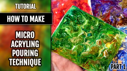 ($15+) 2 Video Tutorials: Micro Acrylic Pouring Technique on Polymer clay
