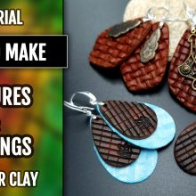 Free Video Tutorial: How to make Attractive Textured Polymer Clay Earrings