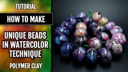 ($10+) How to make Polymer clay Beads in Watercolor Technique.