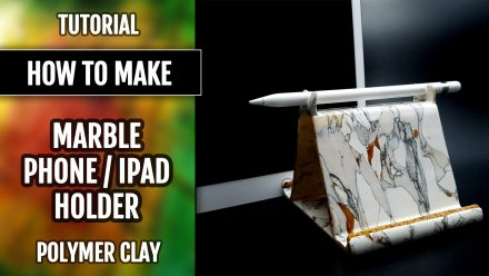 ($10+) How to create from polymer clay Faux Marble iPad/phone holder