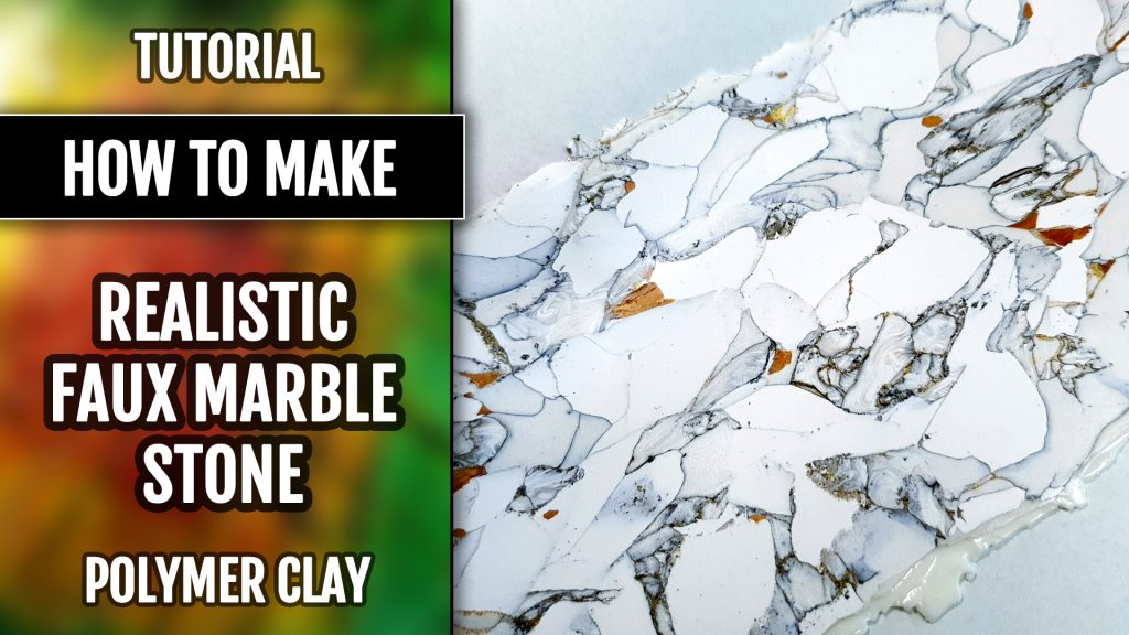 Free Video Tutorial: How to make faux Marble Earrings from polymer clay. 2