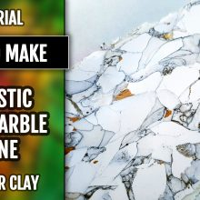($15+) Video Tutorial. How to make: Polymer Clay Realistic Faux White Marble Veneer