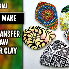 Free Video Tutorial: How to Make a Perfect Image Transfer on raw polymer clay.