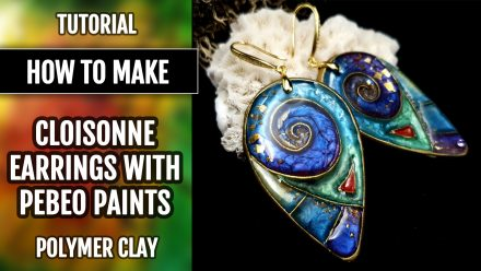 Free Video Tutorial: How to make cloisonne earrings with Pebeo Paints.