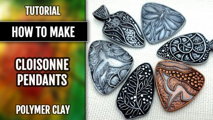 Free Video Tutorial: How to Use Cloisonné Textures for Making Pendant Base.