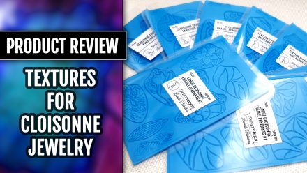 NEW Product review: New Handmade silicone textures for Cloisonné Enamel Techniques.