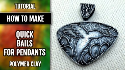 Free Video Tutorial: How to make a quick bail with cloisonne textures and finishing the cloisonne pendant!