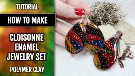 Free Video Tutorial: How to make cloisonne copper jewelry set with Cold enamel.