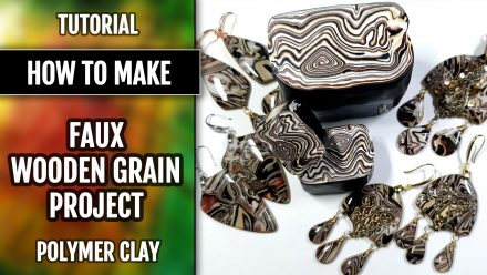 ($15+) Video Tutorial. How to make: Faux Woodgrain cane with polymer clay