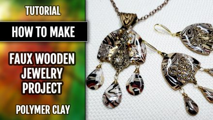 ($10+) Video tutorial: How to create unique jewelry set with UV resin