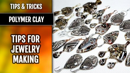 ($5+) Tips&Tricks: How to finish Polymer Clay jewelry – earrings and pendants.