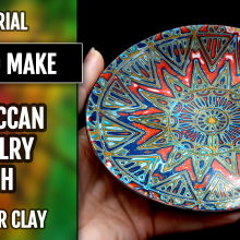 ($15+) Video Tutorial. How to make unique polymer clay Moroccan Jewelry Dish