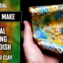 "($10+) Video tutorial: How to make Polymer Clay ""Royal Spring"" ""soaring"" Soap Dish!"