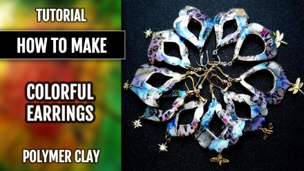 ($10+) Video tutorial: How to Make Colorful polymer clay Earrings! 3