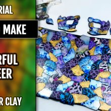 ($5+) Video Tutorial: How to Make a Colorful polymer clay veneer.