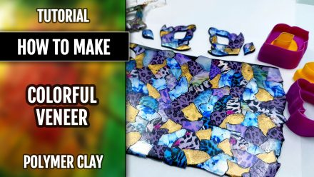 ($5+) Video Tutorial: How to Make a Colorful polymer clay veneer. 4