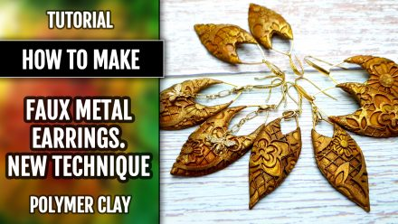 Free Video tutorial: How to make Faux Metal Earrings - NEW Technique! 2